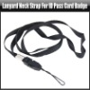 Black Lanyard Neck Strap For ID Pass Card Badge / Mobile Phone Straps, YAM222A