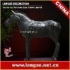 195cm Black pottery (waterproof) war-horse sculpture BMY-1.9HT-FSZM