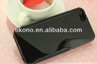 S line transparent tpu soft gel case for iphone 5