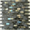 Fusion pearl glass negro tile mosaic