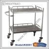Stainless steel hospital trolley k0001