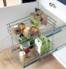 2-Tier Chrome Pulling Cabinet Organizer