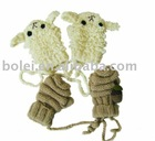 2012 animal image children knitted winter gloves
