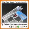 16.5cm new style customize logo transparent plastic promotional water gun