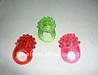 LED flash soft gum finger ring