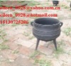 cast iron pots three legged