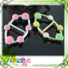 New design oval plastic buckle