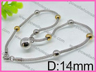 Bulk Kids Jewelry Simple Bead Chain Necklaces Designs