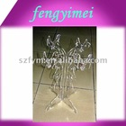 Flower clear acrylic candlesticks,plexiglass candle holders,prespex candle stands