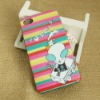multicolor horizontal stripes devil case for iphone 4