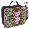 (XHF-LUNCH-005) girl's lunch bag with cat embroidery