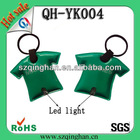 Promotional T-shirt led light keychain with printed logo