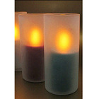 led candles with holder