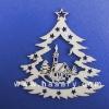 Wood Xmas Ornament laser cut Decoration