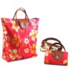 Folding shopping handbag