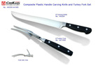 RANG 44 2Pcs Plastic Handle Carving Knife and Fork