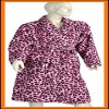 Ladies leopard printed bathrobe