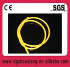 Extruded silicone tube
