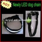 Collar LED flashing LED pet chain
