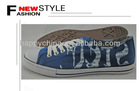 white printing canvas shoes