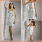 Free Shipping New Satin Shrapless Lace Short Wedding Dresses 2012 JYWD0570