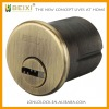 High security brass made antique yellow bronze finish US mortise lock cylinder