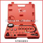 Automotive Tools TU-15 19pcs Cylinder Pressure Meter For Diesel Truck Auto Tool (VT01051)