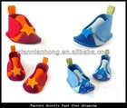 2012 foot flower foot wear TOP BABY feet band baby shoe flower foot ties first prewalker