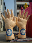 Inflatable Hands for Advertisement/promotion Cheering Hand in Service Equipment
