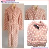 Coral Fleece Printing Long Bath Robe