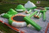 Exciting inflatable water park