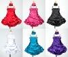 Satin Bubble Short Cinderella Flower Girl Dresses with Shawl