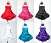 Satin Bubble Short Cinderella Flower Girl Dresses with Shawl