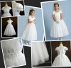 Satin Bodice First Communion Dress with Cap Sleeves