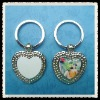 personalized sublimation key ring heart shape