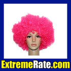 Party Afro Periwig for Masquerade Party Pink