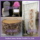C001D Hot sale popular fancy chair covers,ruffled wedding chair covers
