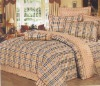 plaid knitted cotton bedclothes