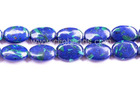 GS1429 Blue Lapis Malachite Puffy Ovals