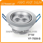 3*1W LED Recessed Light with CE Certificate