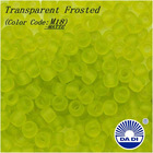 DA DI Glass Seed Beads8/0 M18-MATTE 'Transparent Frosted Lime Green'