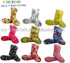 kids rain boots/adult size available/multi colored printing