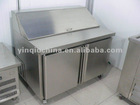 6 pans refrigerated salad bar with two doors