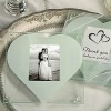 heart pattern design glass coaster