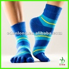 5 Half Toe Pilates Socks With Anti-slip Dot