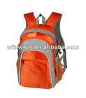 2012 600D polyester orange sport backpack (TB-03)