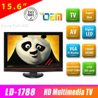 New model 15.6 inch flat screen FULL HD hotel tv with multimedia player