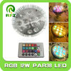 E27 12w rgb LED PAR38 Spotlight with a remote controller