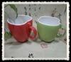promotional fruit apple mug/beautiful design mug