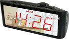 Unique big screen display balarm clock with AM/FM radio